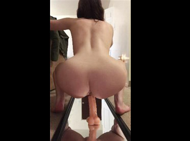 Great round ass and hot riding on dildo