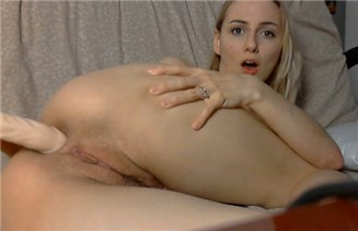 Blonde babe hot anal dildoing <!-- width=