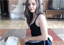 Cute princess undressing  and fingering pussy