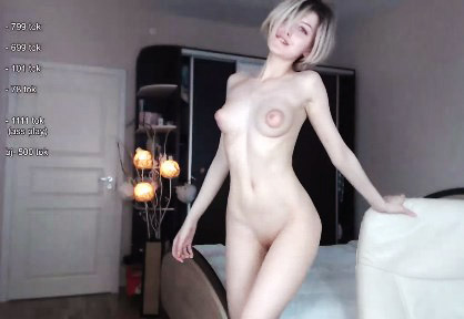 Young and cute girl with puffy nipples