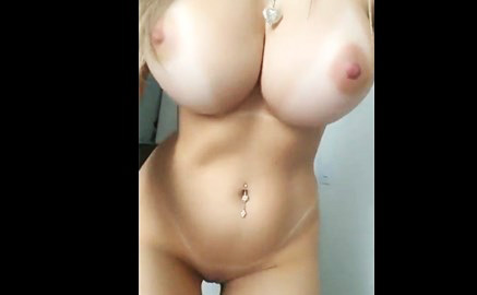 Sexy short haired girl masturbates on cam