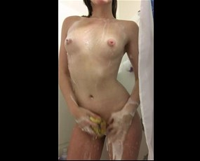 Cutie filming herself showering
