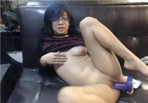 Camgirl nekolukka masturbating with dildo <!-- width=