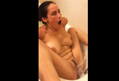 Brother hidden filming his sister mastubration in the bath <!-- width=