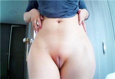 Camgirl teases with pussy  <!-- width=