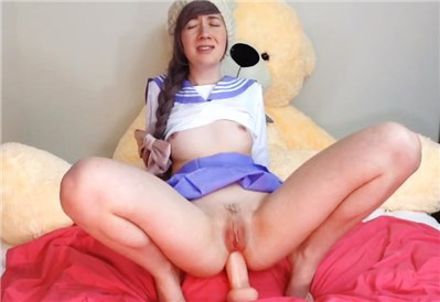 Girl sammysable anal masturbating with toy <!-- width=
