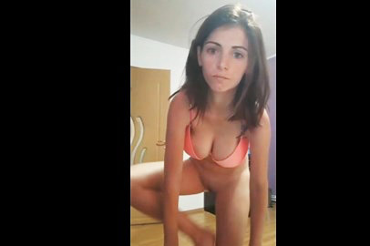 Brunette bookofher shows her sexy body