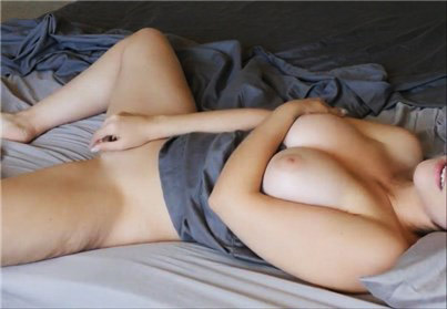 Sensual amateur masturbation with her pussy <!-- width=
