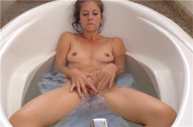 Slender girl masturbation in the bath <!-- width=