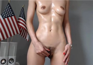Hot oiled body and teasing with ohmibod