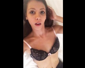 Stephanie Moon in sexy lingerie selfshot pussy teasing <!-- width=