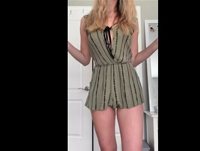 19yo blonde undress her summer dress <!-- width=