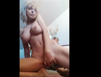 short blonde with big tits