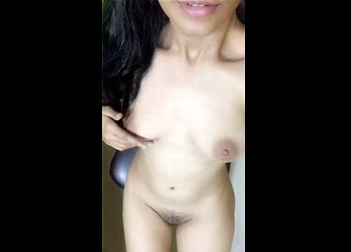 Hot Indian girl selfshot her body