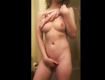 Amateur busty girl masturbates with stranger on cam <!-- width=