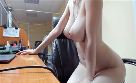 Hot blonde with big boobs dildo masturbate
