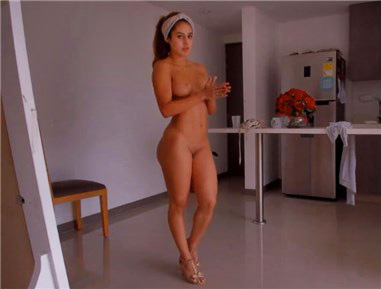 Young latina girl and her dance attempt <!-- width=