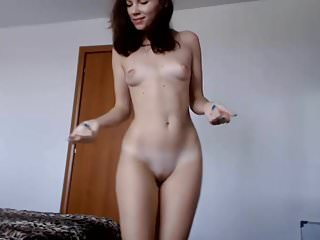 Cute young brunette naked dance <!-- width=