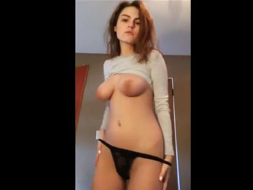 Slender brunette hot strip dancing <!-- width=