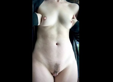 She shows her hard nipples and meaty pussy <!-- width=