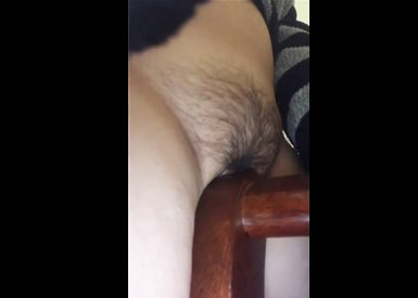 Teen humping up against a chair <!-- width=