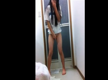Japanese girl on webcam