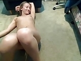 Blonde princess with vibrator