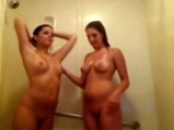 Two girls in the shower