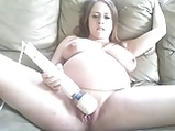 Pregnant Girl Masturbates and Talks Dirty On Cam <!-- width=