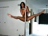 Ebony Brianna her strip pole dance