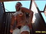 Voyeur video russian girls from beachcabin