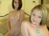 Two college girls great naked show