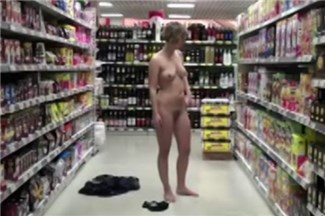 Risky strip in shop
