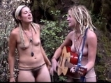 Two hippie songbirds sing uplifing song about oneness <!-- width=