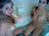 Two girls show lesbian sex in the shower