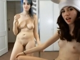 Two young crazy girls on webcam