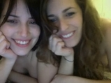 Two pretty college lesbians on webcam