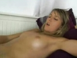 Girl rubs her pussy to orgasm