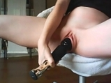 Amateur masturbation with vibrator <!-- width=