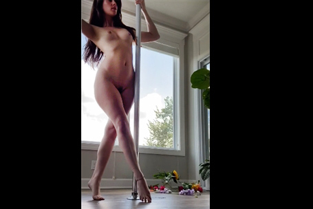 Arab girl shows her tits and shaved pussy