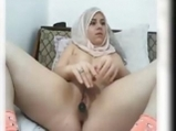 Amateur Arab girl masturbates with dildo