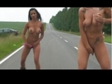 Nude rollerscater girls dildoing while driving <!-- width=