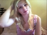 Sweet blonde undressed and jilling off on cam