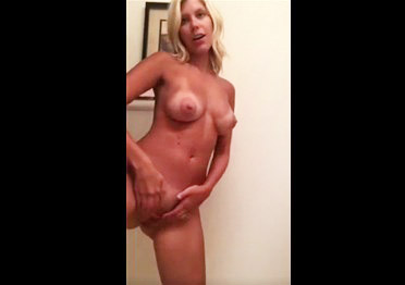 Sensual masturbation blonde girl <!-- width=