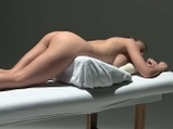 Sensual oil massage and masturbation