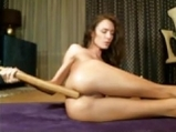 Cute chick spank her ass and shows anal dildoing