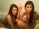 Two naughty girls in the bath <!-- width=
