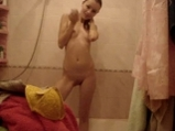 Russian blonde undress and showers <!-- width=