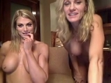 Two blonde milf strap on fuck