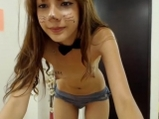 Cute cat teases on cam <!-- width=